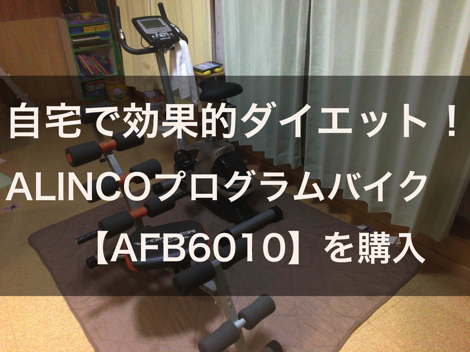 自宅で効果的ダイエット!エアロバイク【ALINCOプログラムバイク AFB6010】を購入