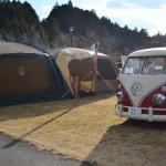 今年の初キャンプはささゆりの湯で雪中・強風キャンプ(その1)