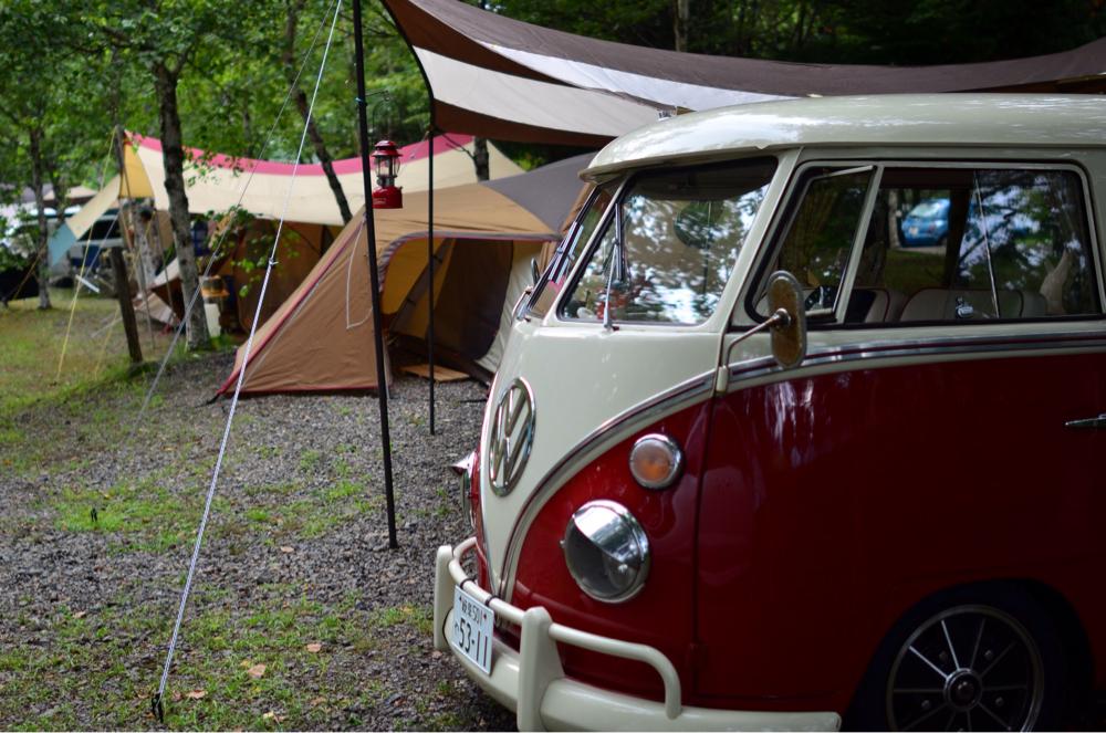夏休みの恒例ファミキャンは「木曽駒オートキャンプ場」で